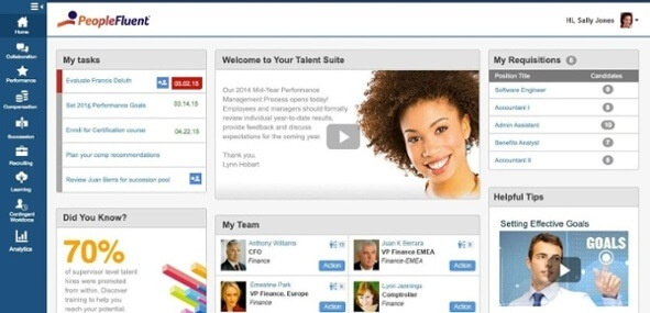 PeopleFluent ATS screen