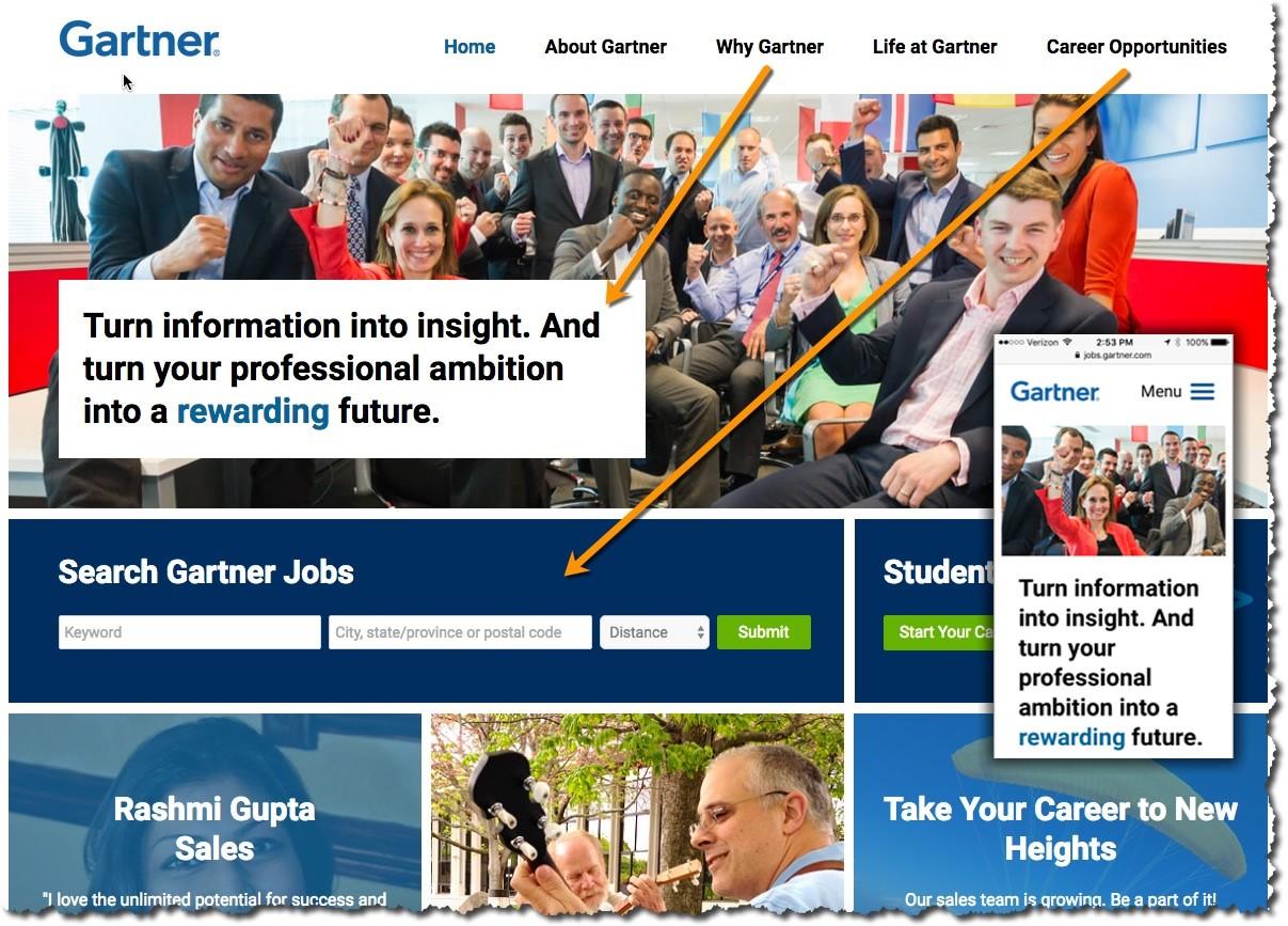 Great Careers Sites - Gartner