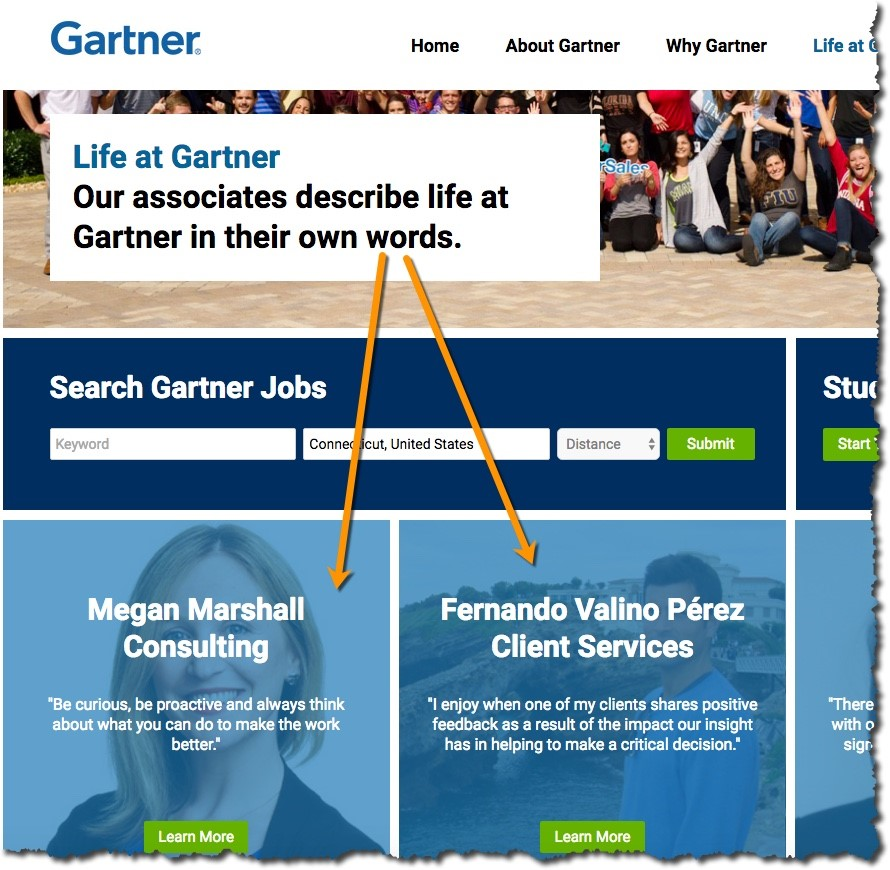 Great Careers Sites - Gartner