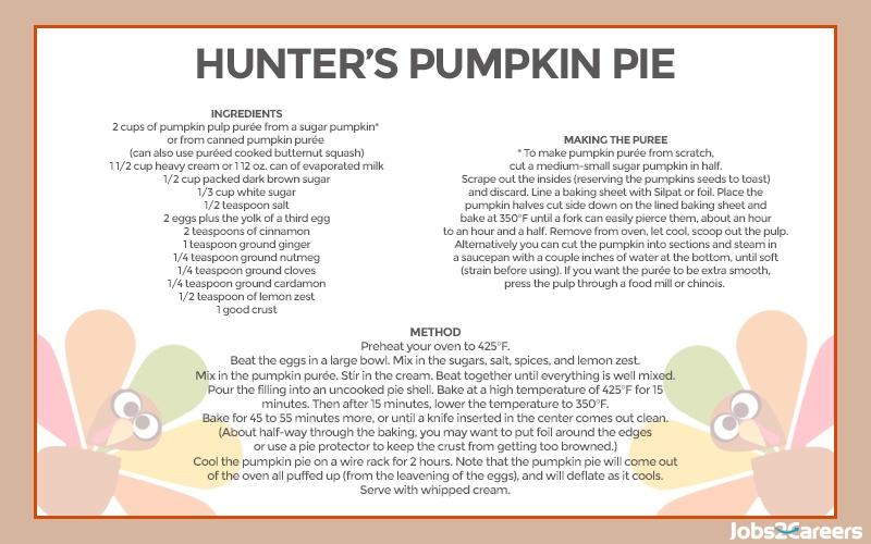 Hunter's Pumpkin Pie