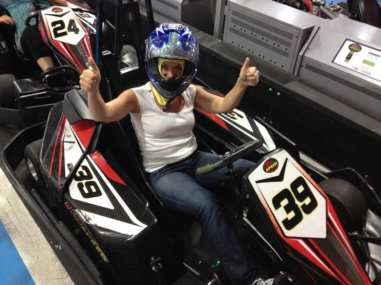 Go kart racing with Shelly