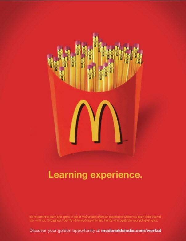 Mcdonalds India job ad