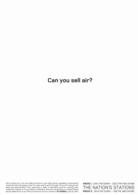 can you sell air