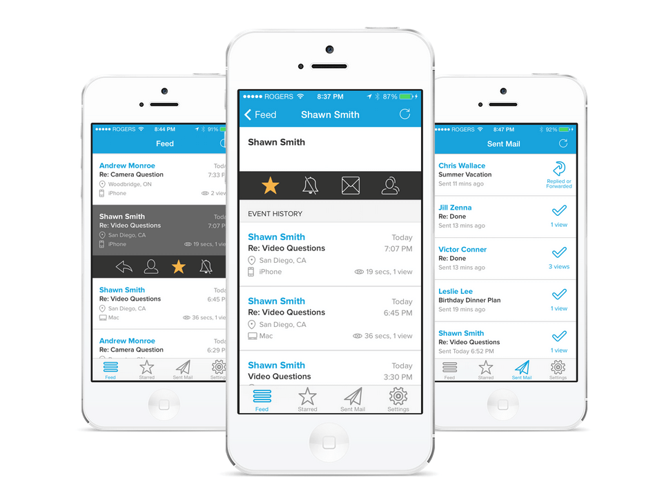 Mailtracker, productivity app